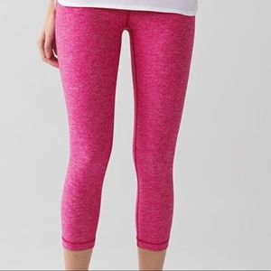 Lululemon Magenta Wunder Under Crop ll Legging